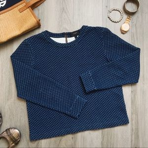 J. Crew Navy Blue Sweatshirt S